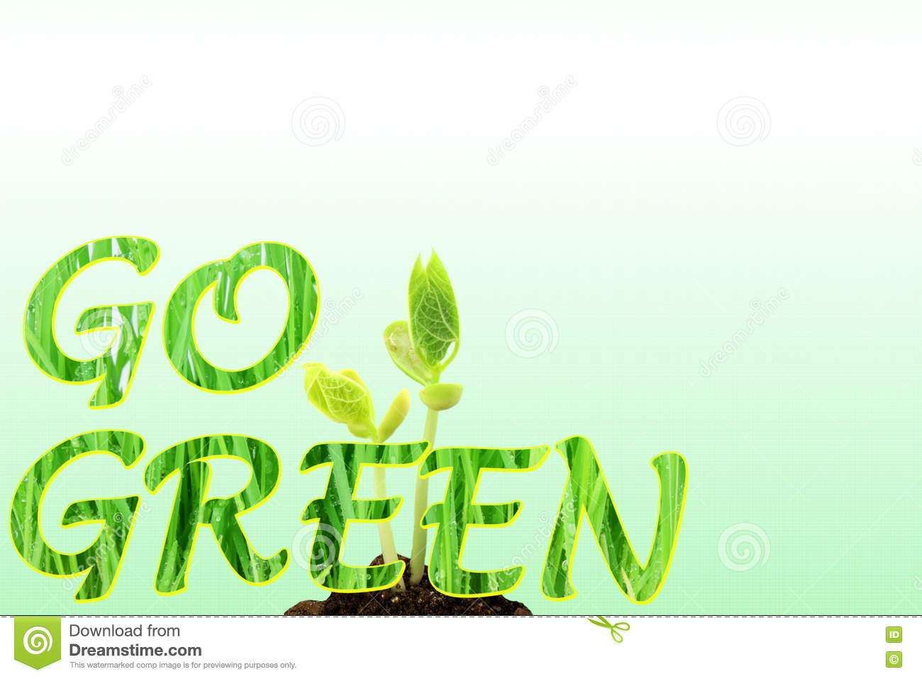 Go Green Nature Ecology Organic Concept Stock Illustration Illustration Of Energy Global 78565030