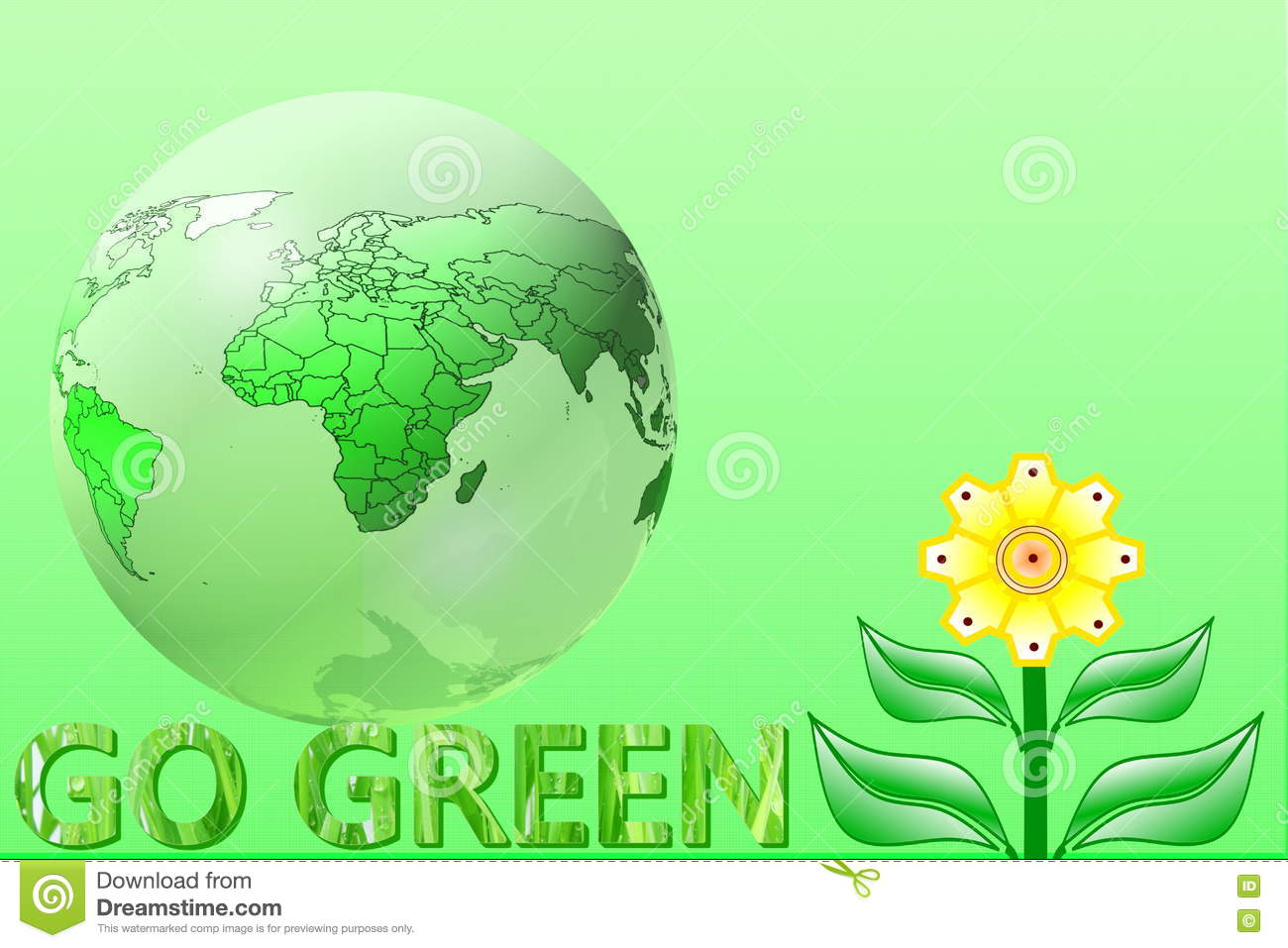 Go Green Nature Ecology Organic Concept Stock Illustration Illustration Of Globe Concept 78565941