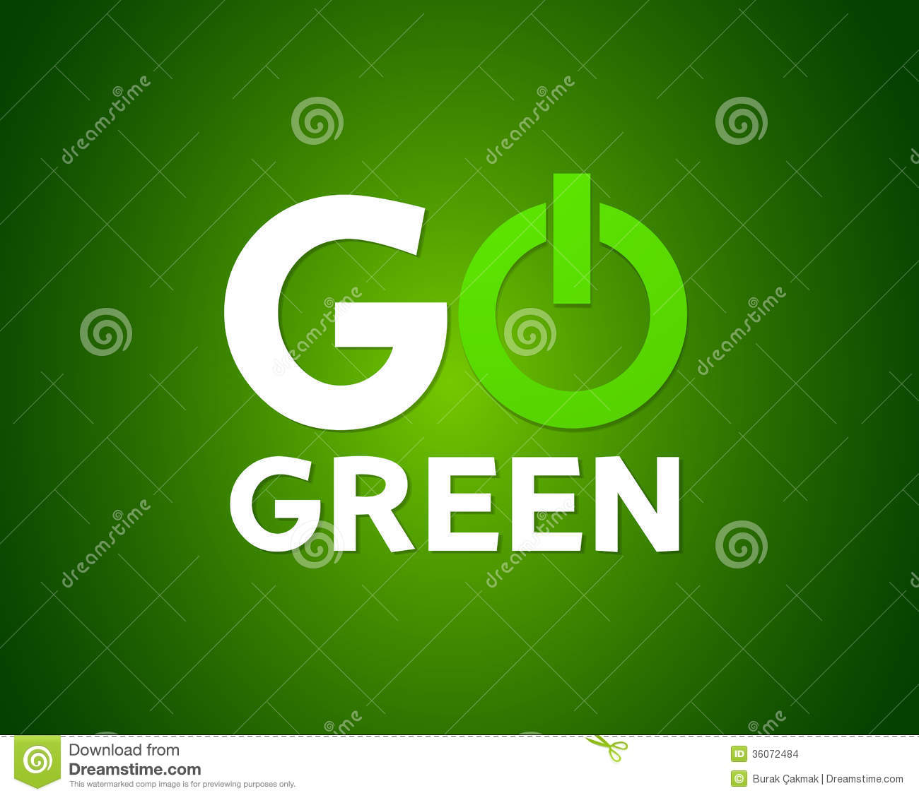 Go Green Power Concept Stock Images Image 36072484