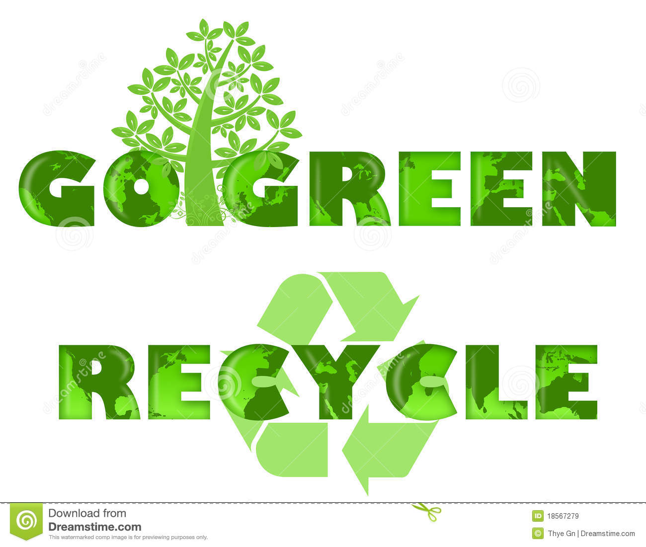 Go green recycle logo with world map stock illustration go green recycle logo with world map gumiabroncs Image collections