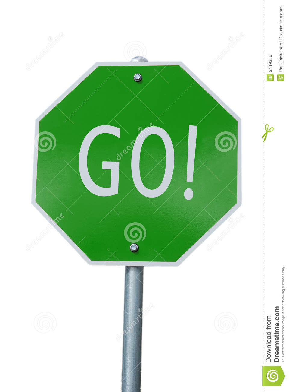 Go Green Sign 3419336