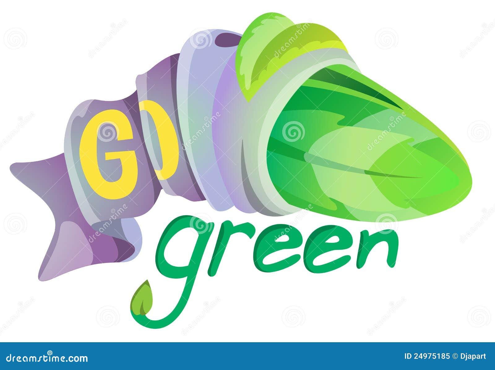 Go Green Symbol Stock Vector Illustration Of Plant Present 24975185