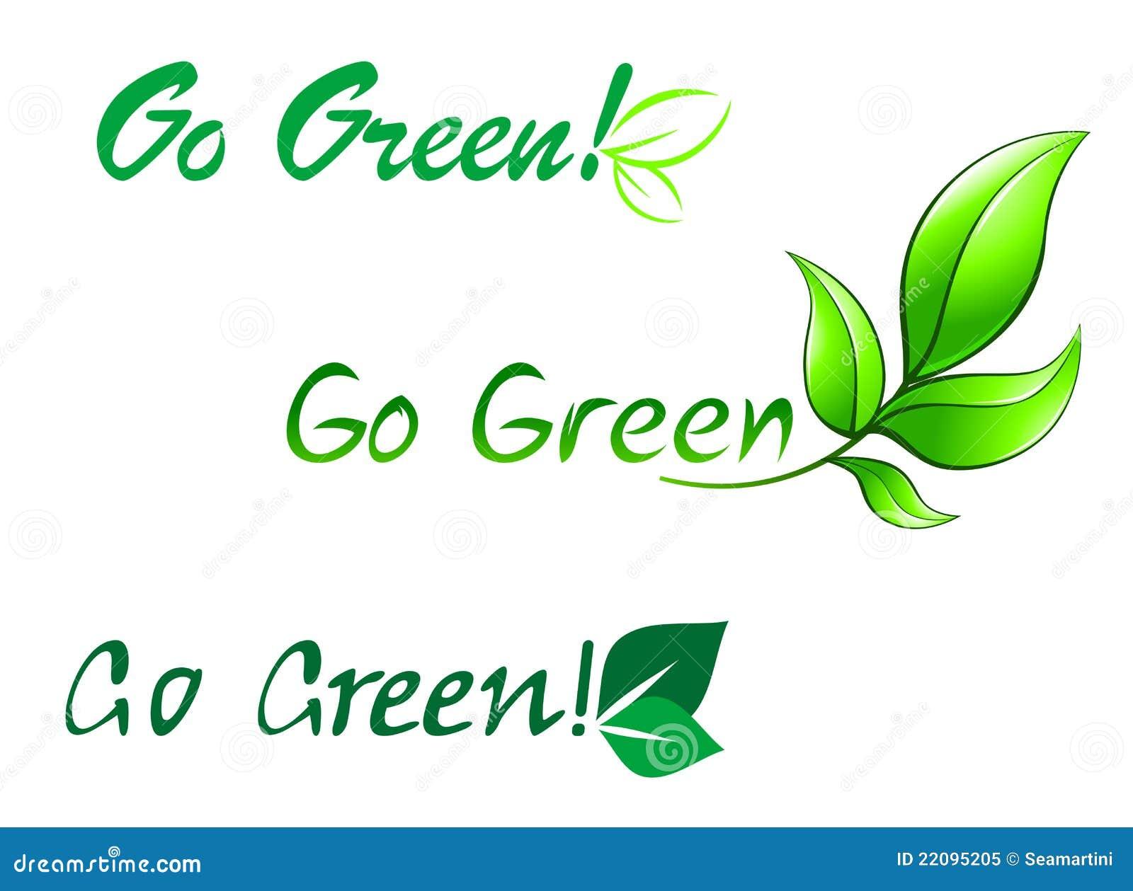Go Green Symbols Stock Vector Illustration Of Green 22095205