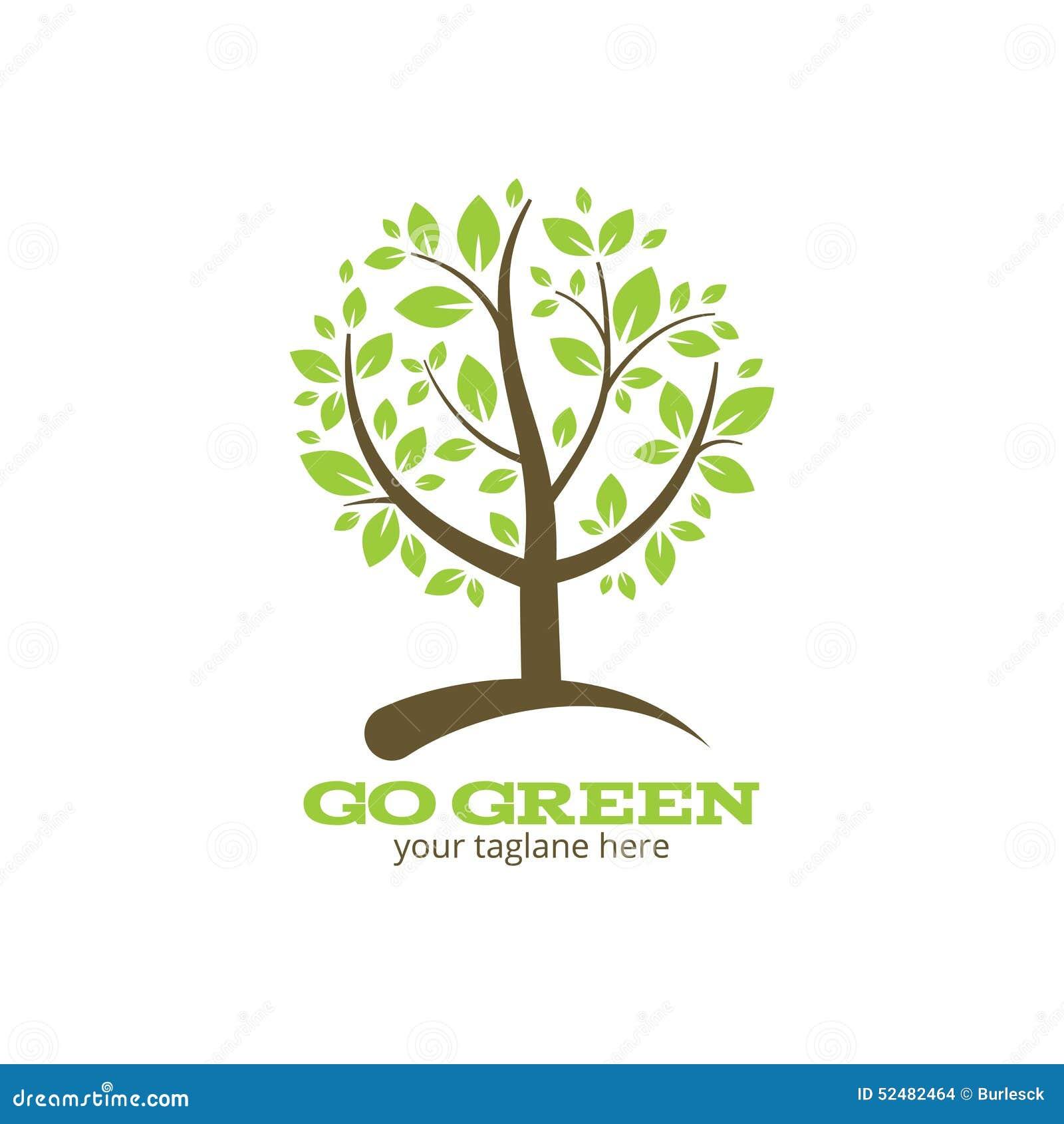 Go Green Tree Logo Stock Vector Illustration Of Natural 52482464