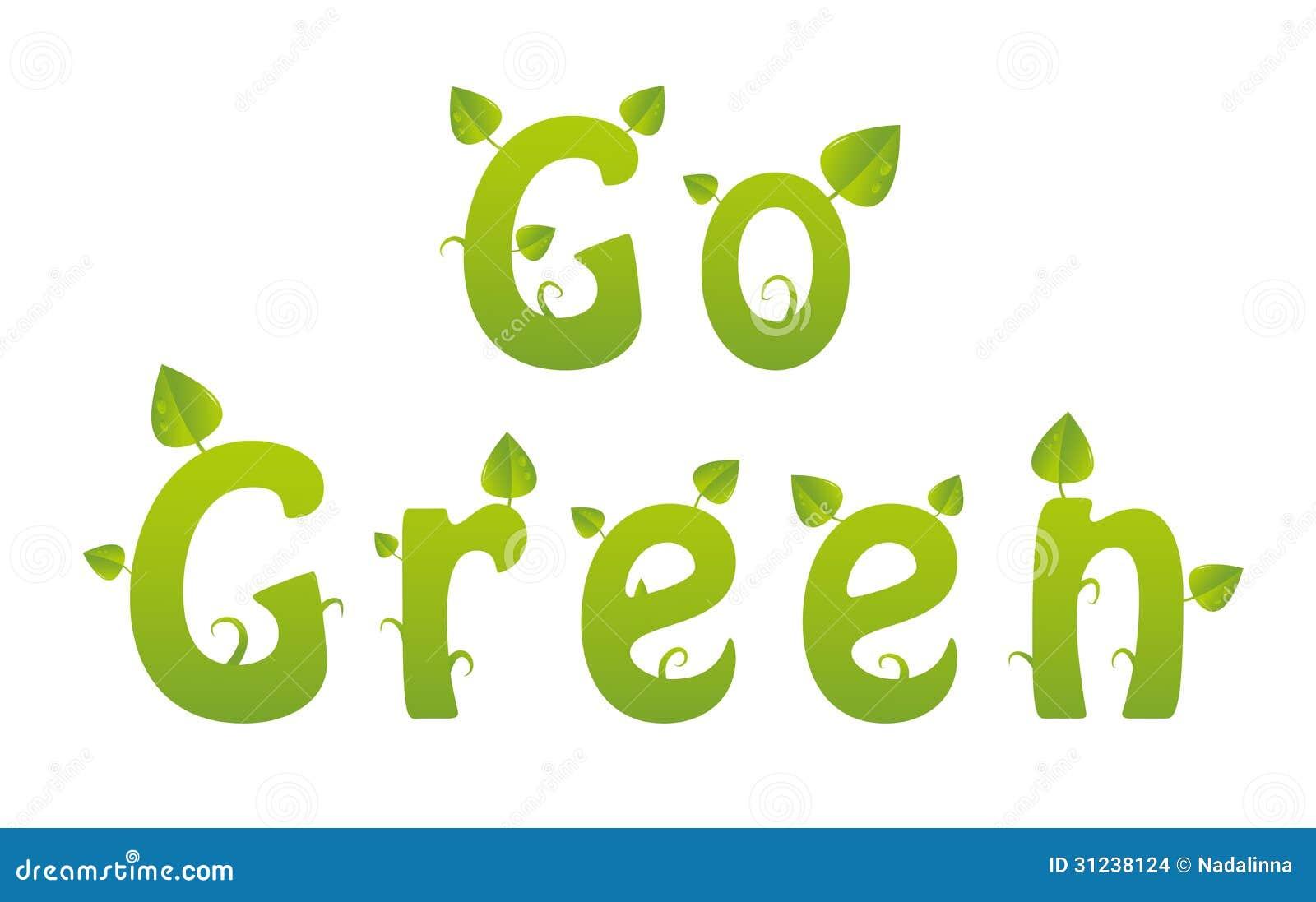 go green word