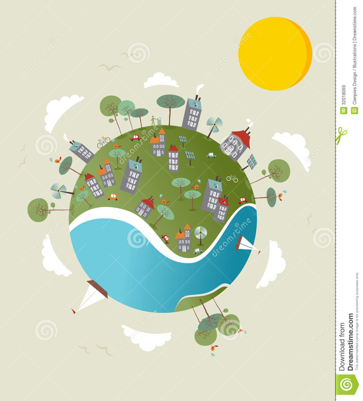 Go Green World Design Royalty Free Stock Images - Image