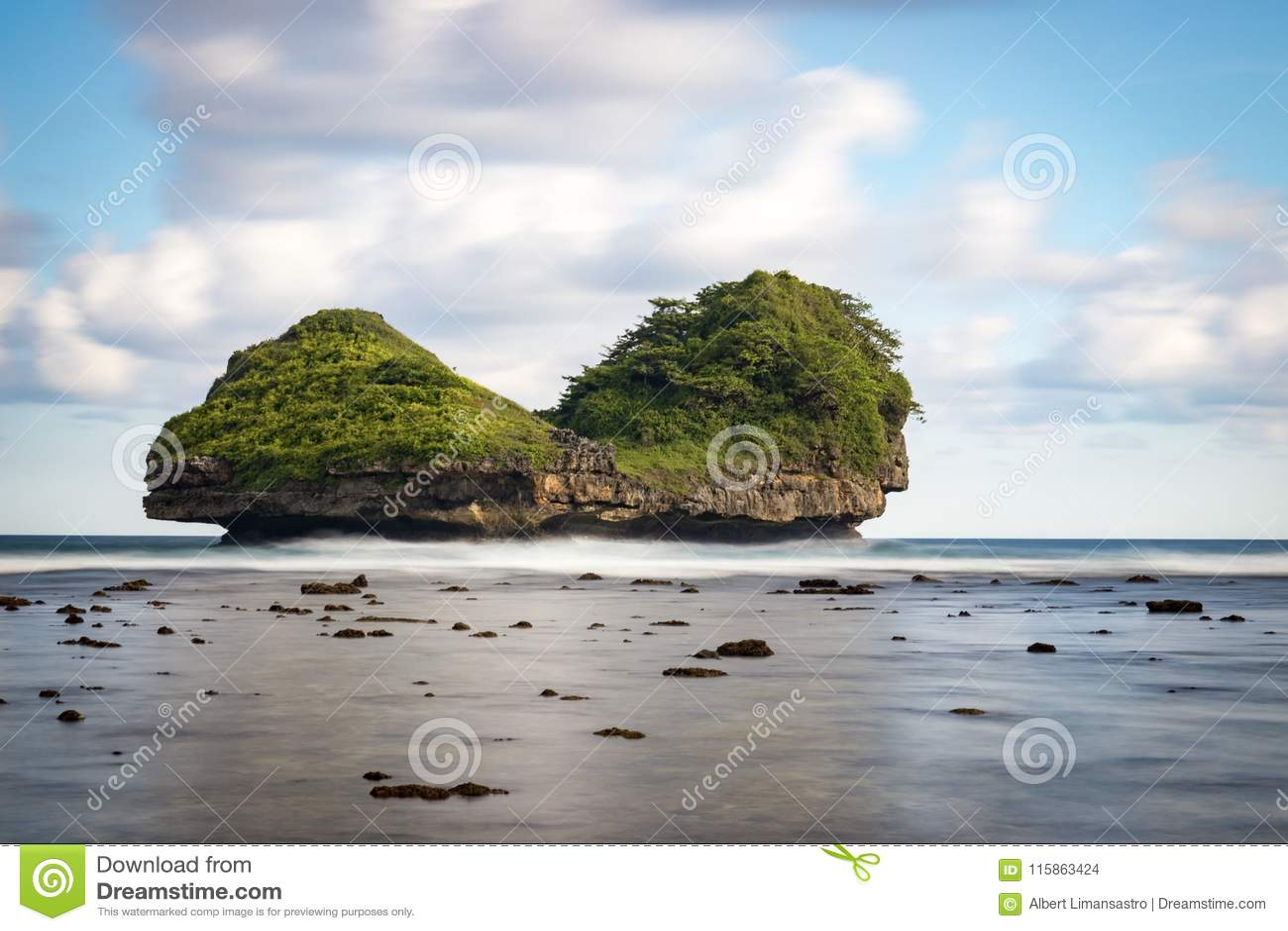Goa Cina Beach Malang Indonesia Stock Photo Image Of Traveling Malang 115863424