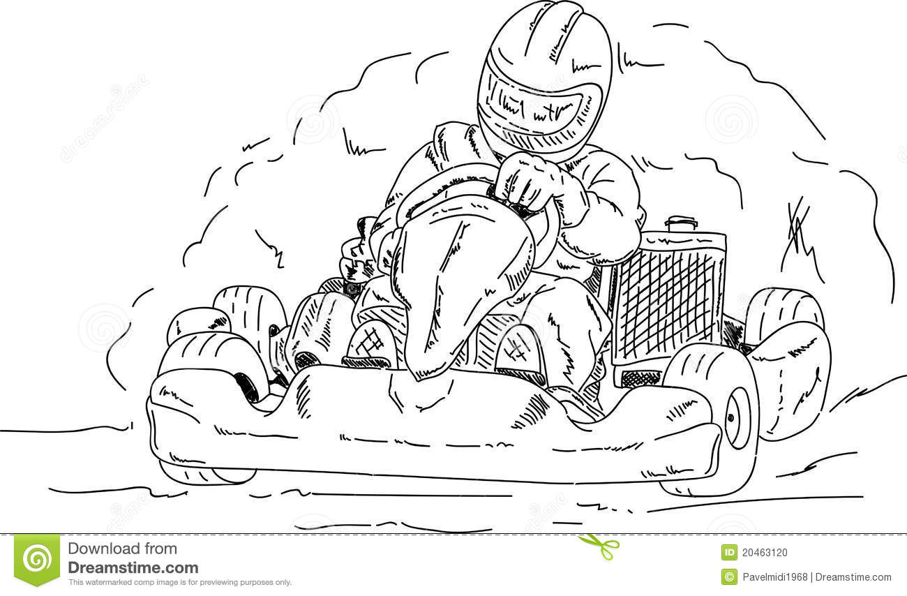 free coloring pages of karts