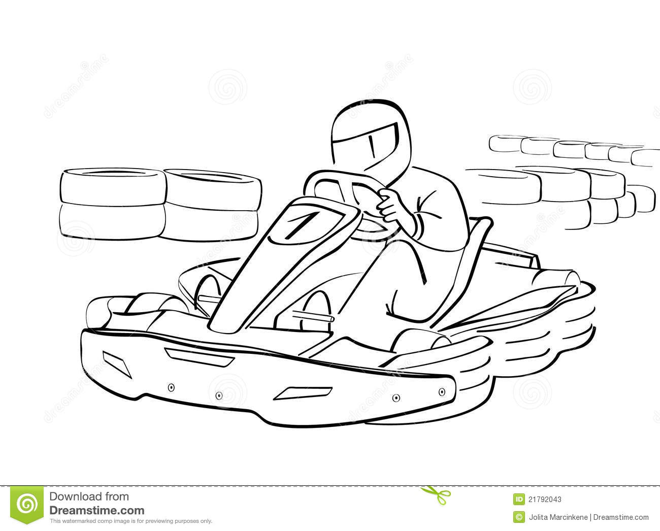 Go kart stock vector. Image of vehicle, background ...