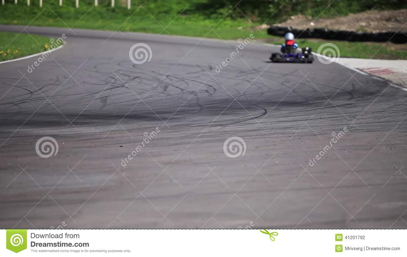 Go Kart In A Curve Stock Footage Video Of Competition 41201792