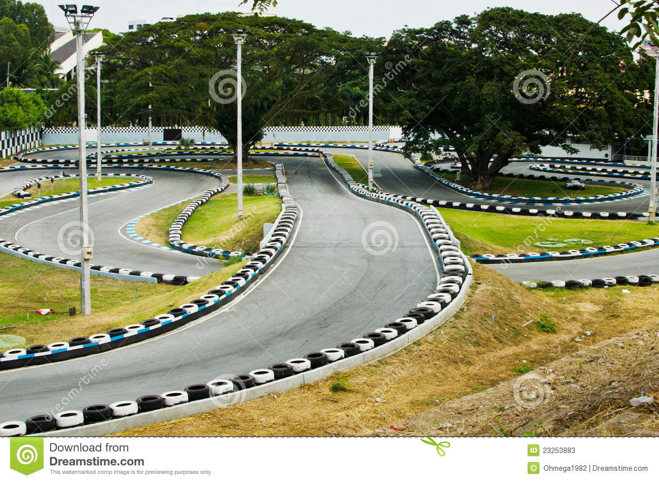 Image for Go Kart race course for speed race.