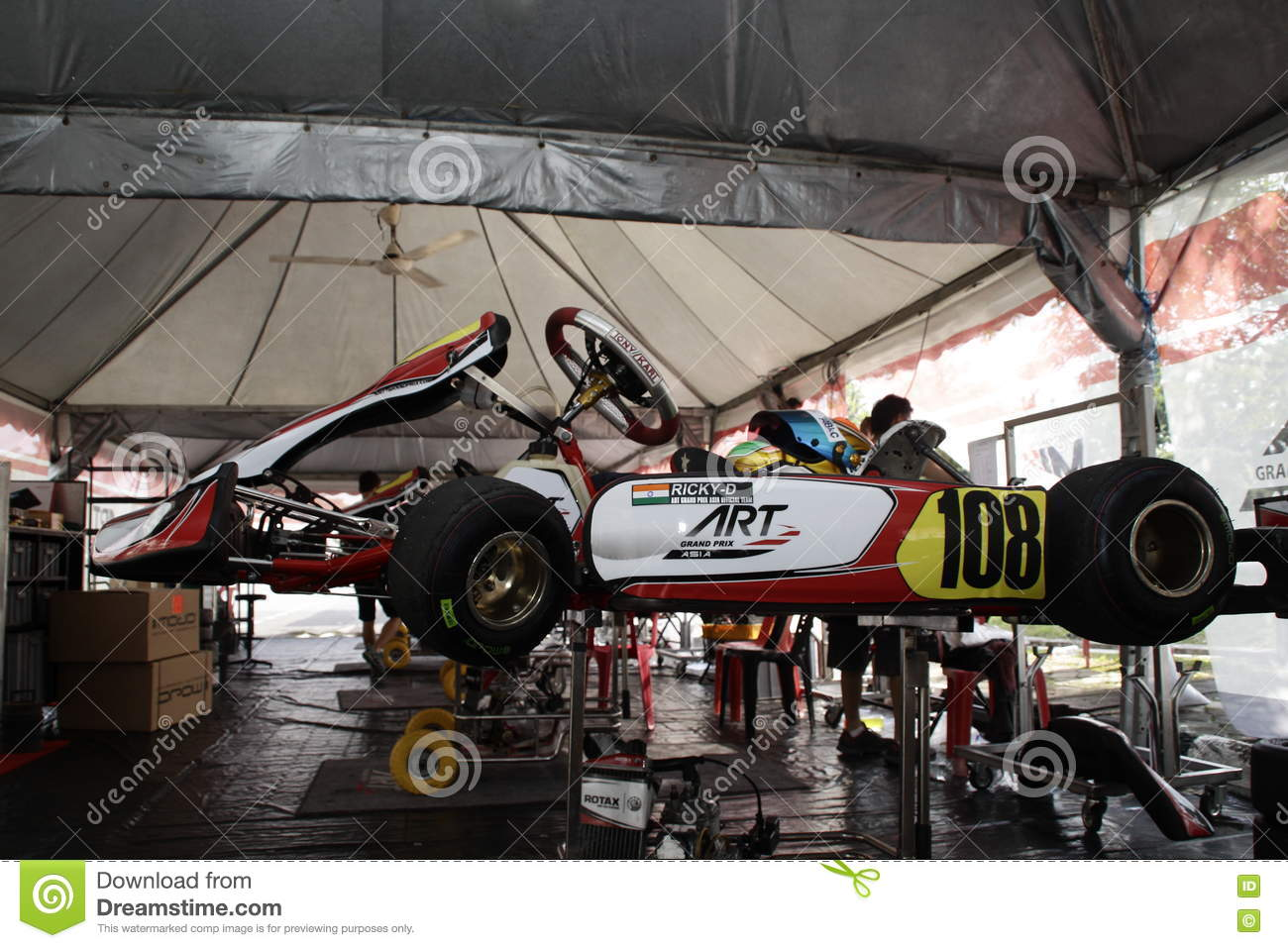 Go kart racing sports editorial stock image  Image of speedway