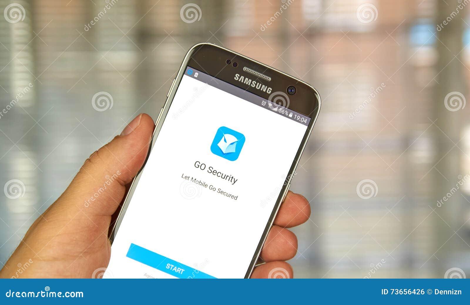 Go Security App Editorial Photo Image Of Smartphone 73656426