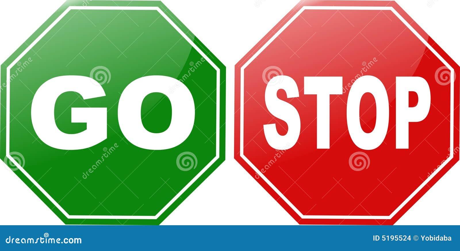 Go Stop Stock Illustration Illustration Of Clip Push