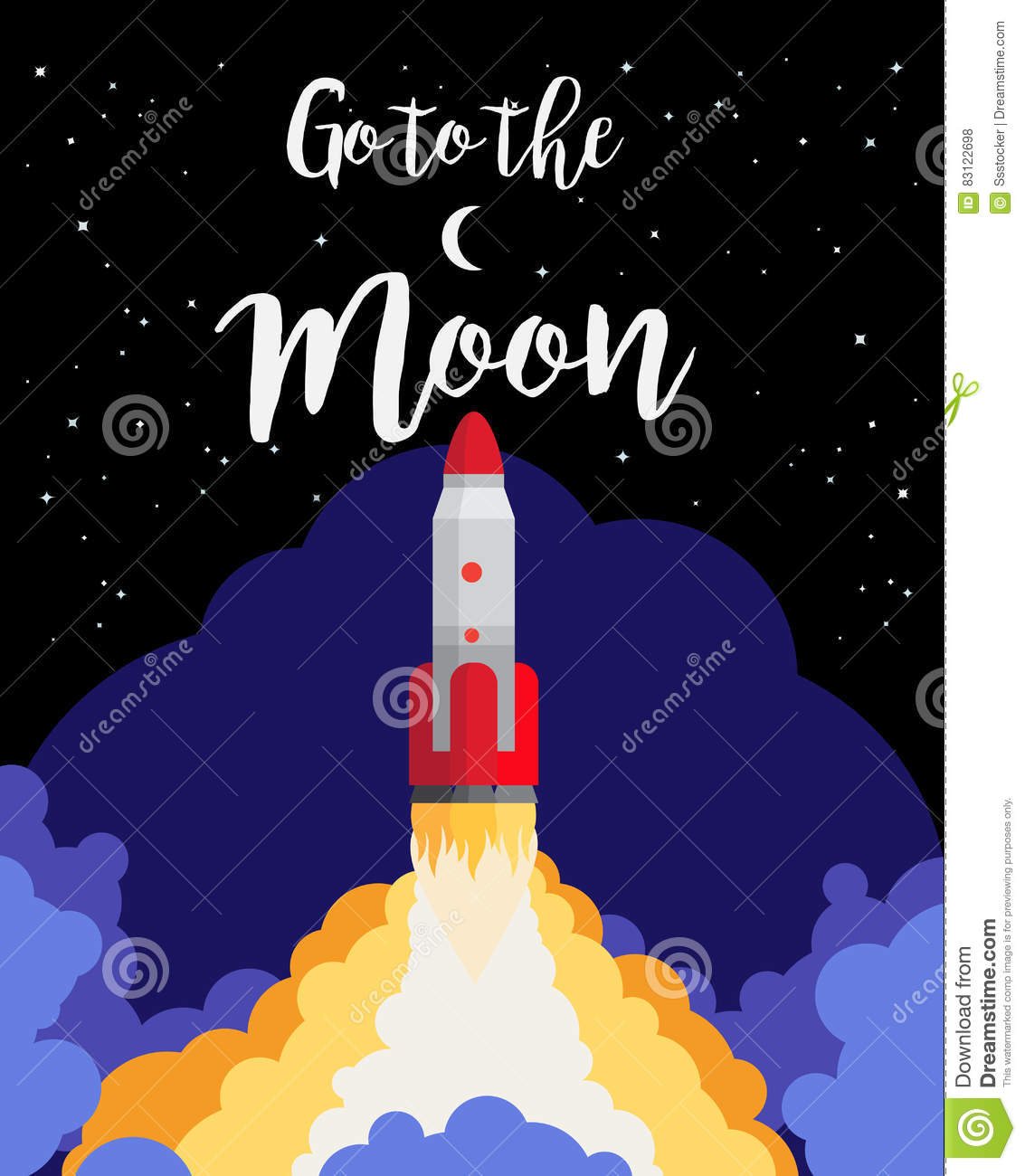 Go to the moon poster