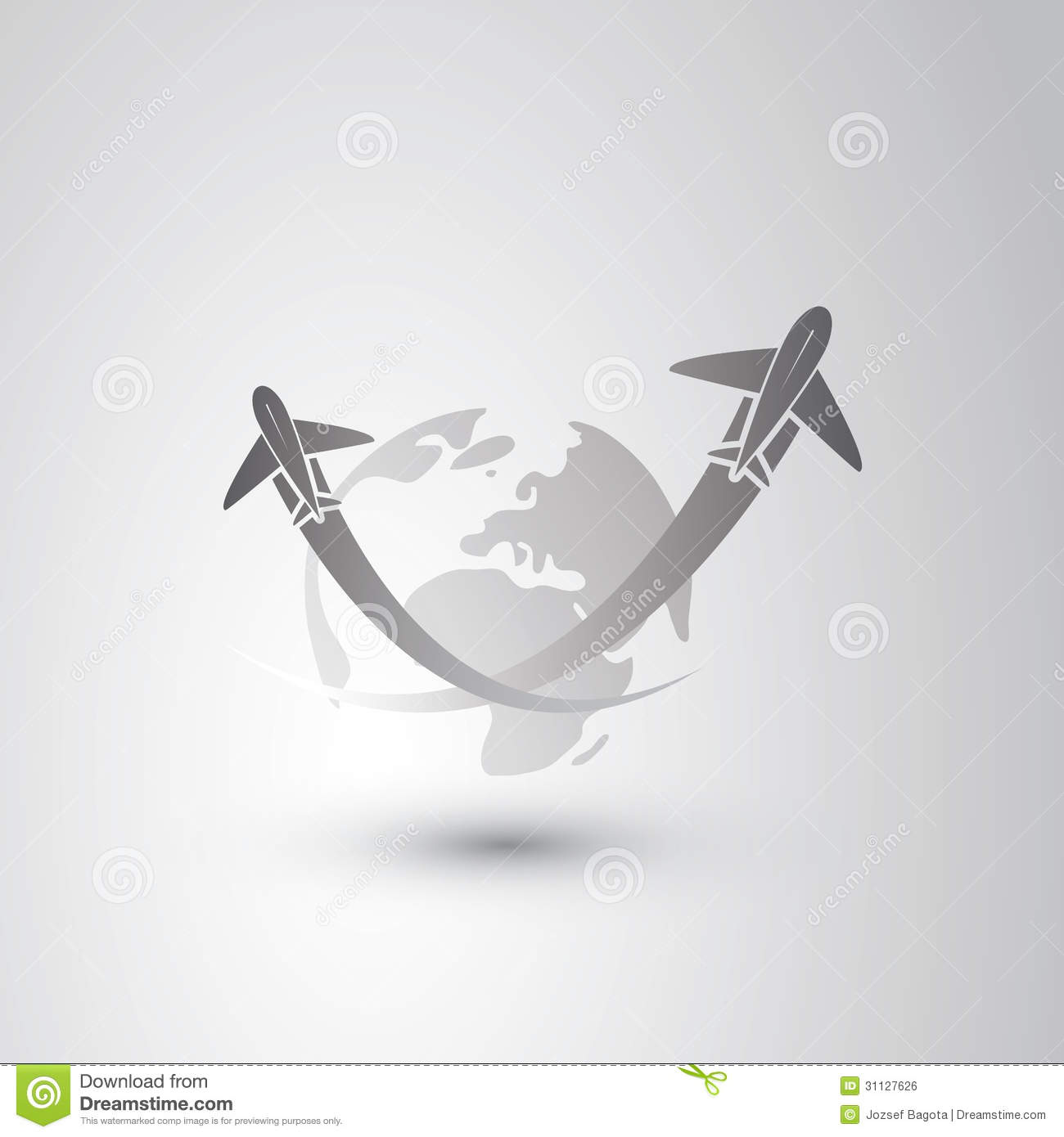 Go To Sky Airplanes Icon Royalty Free Stock Image