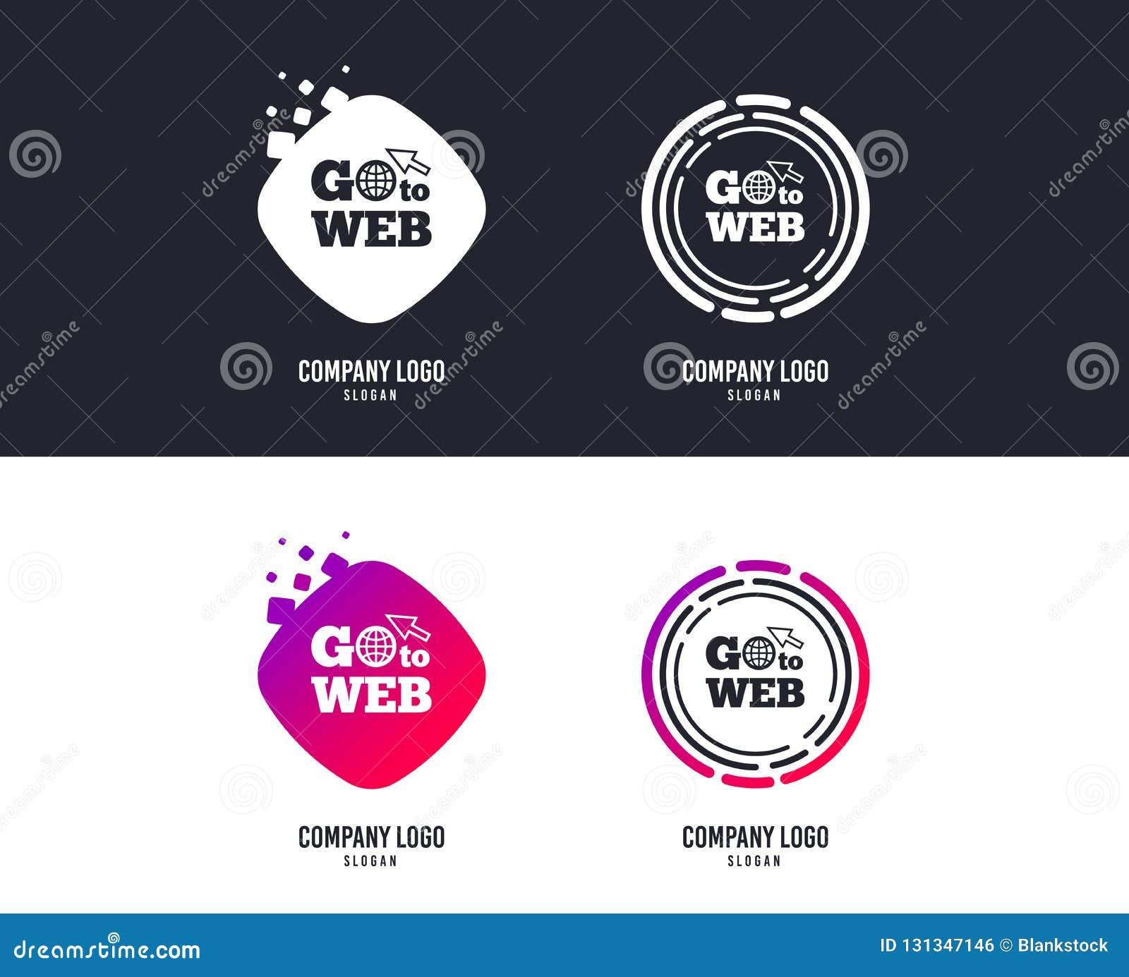 Go To Web Icon. Internet Access Symbol. Vector Stock ...