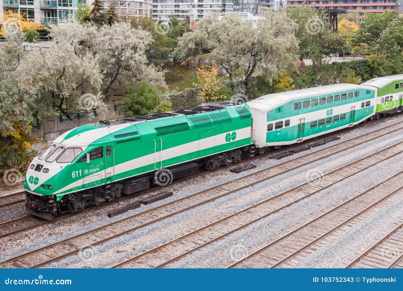 Go Transit train in Toronto, Canada