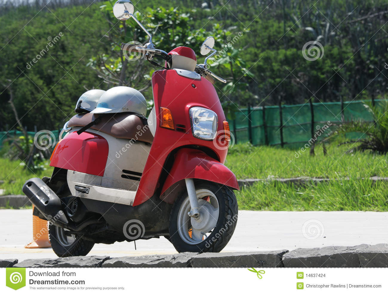 Go Travel with a Red Scooter