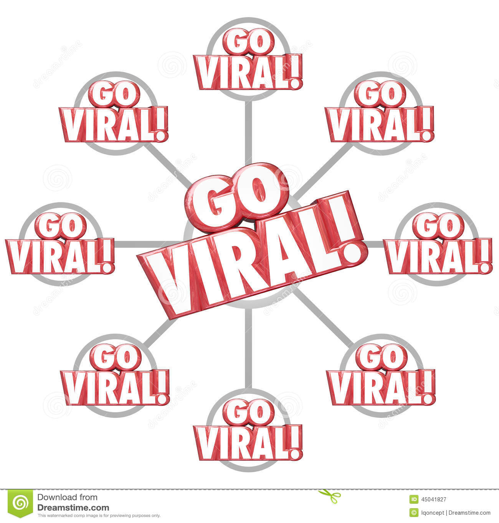 We Go Viral: Go Viral Spreading Internet Marketing Message 3d Words
