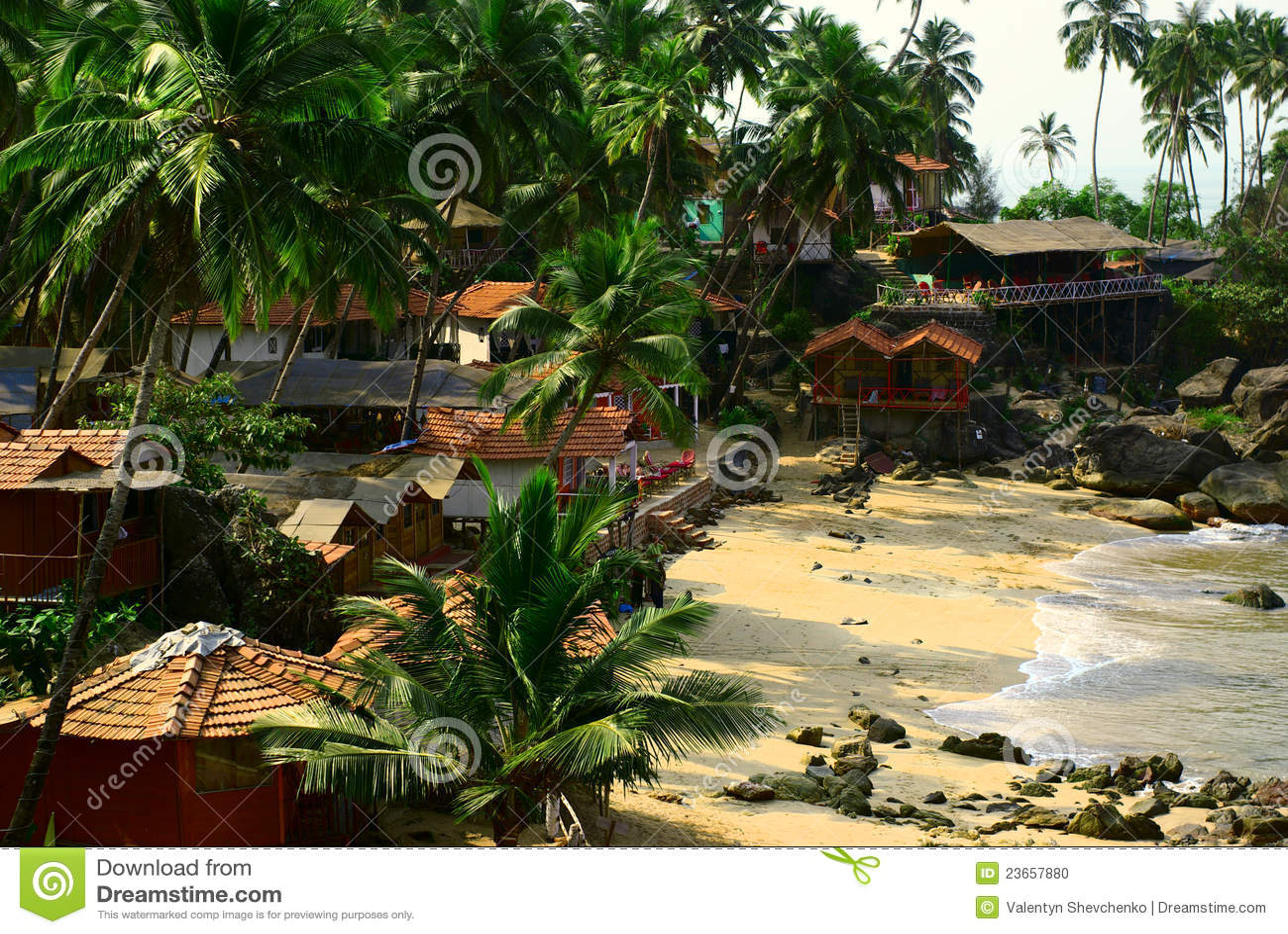 Goa Ινδία παραλιών palolem