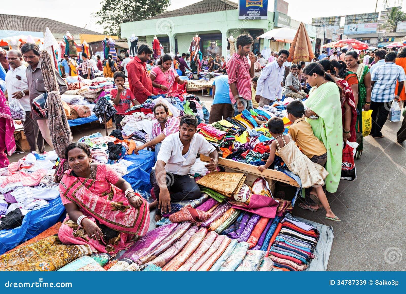 Goa Market Editorial Stock Image Image Of Indian Cotton