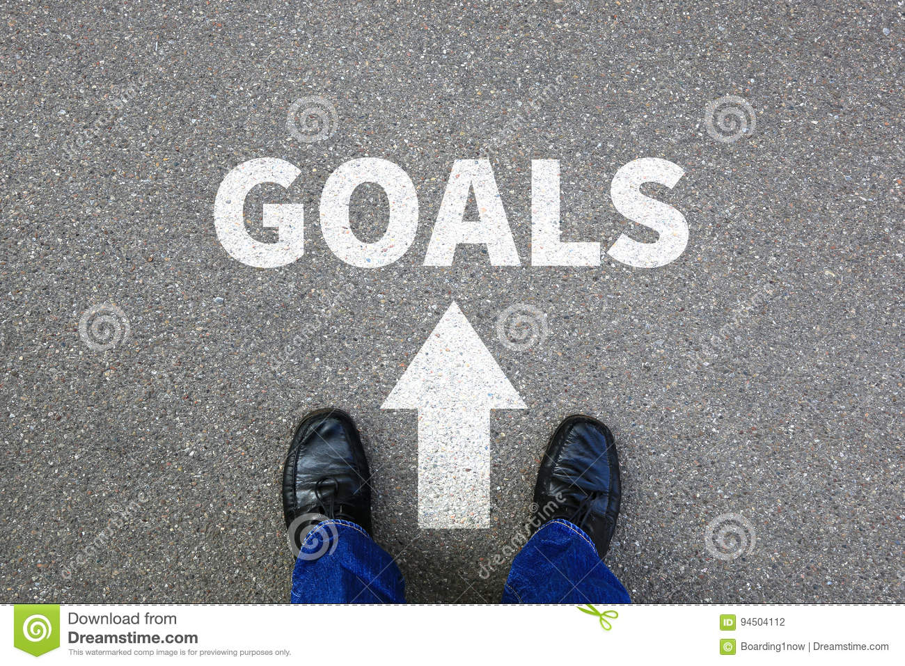 Goal goals setting success new aspirations strategy future businessman business concept