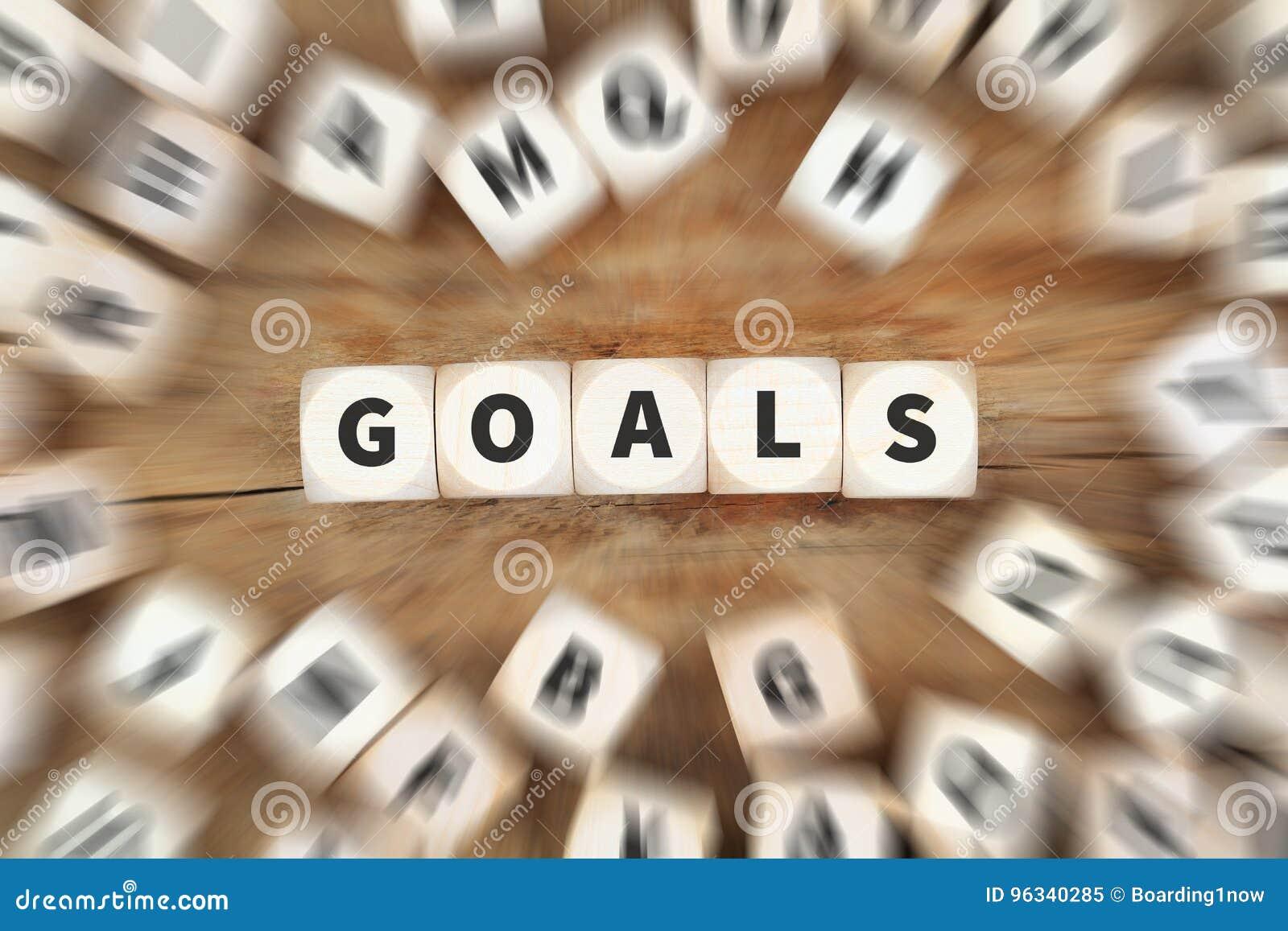 Goal goals setting success new aspirations strategy future dice