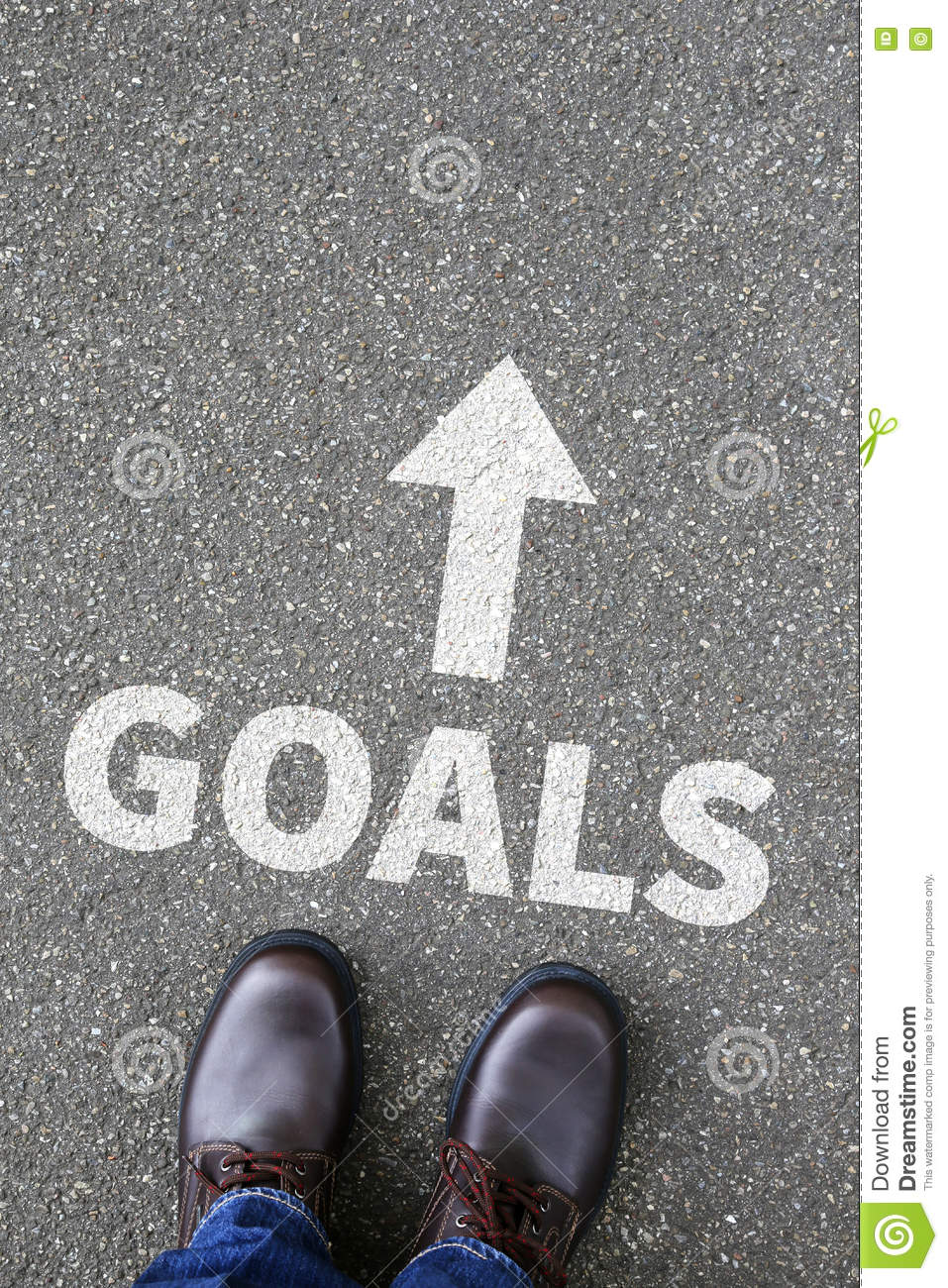 Goal goals to success aspirations and growth business concept