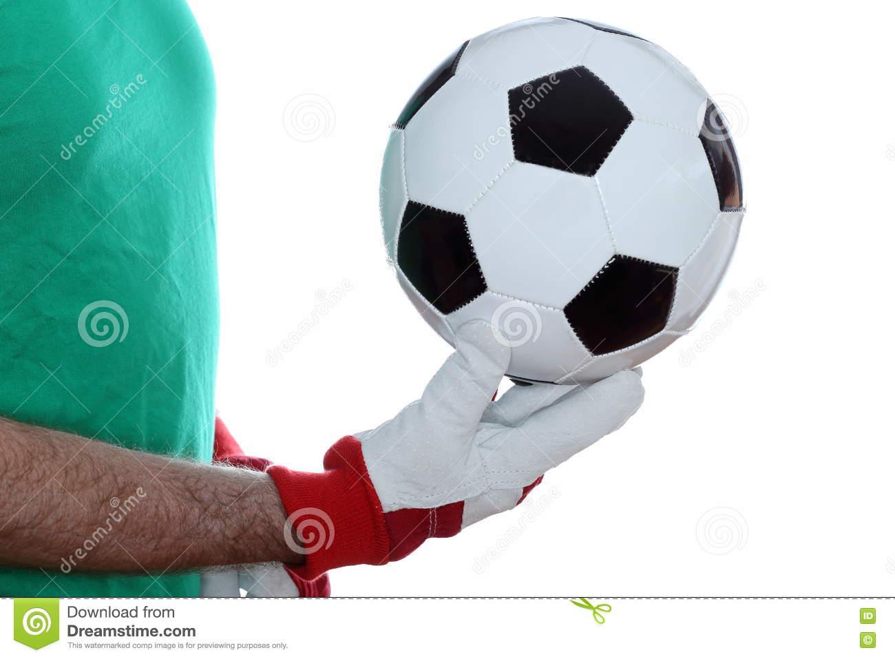 Goal keeper with gloves