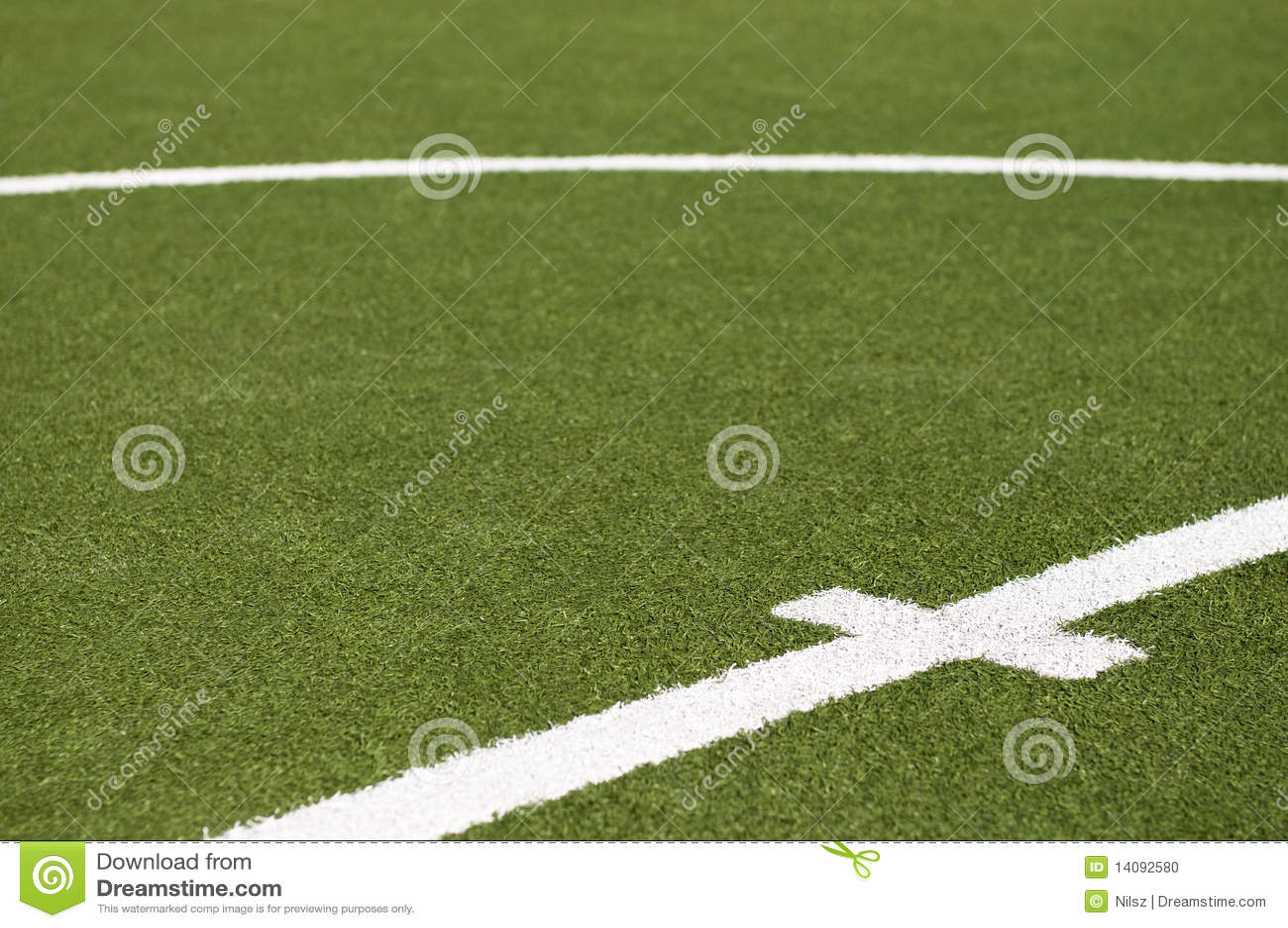 Goal kick line on soccer field stock photo image 14092580
