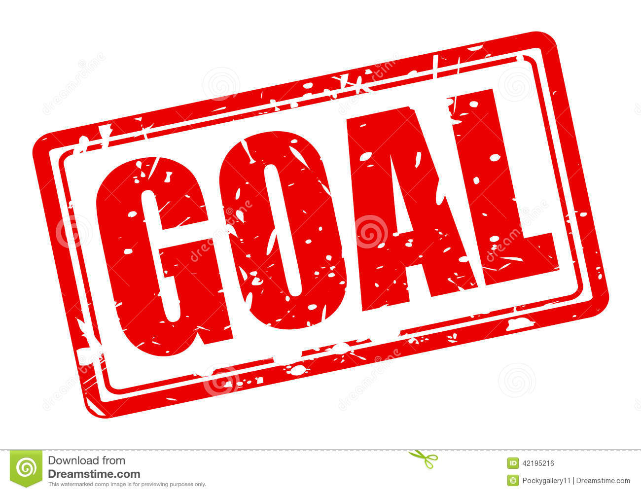 Goal Red Stamp Text Stock Vector Image Of Achievement