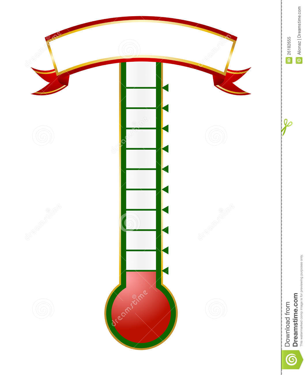 Goal Thermometer Royalty Free Stock Photo - Image: 26182655