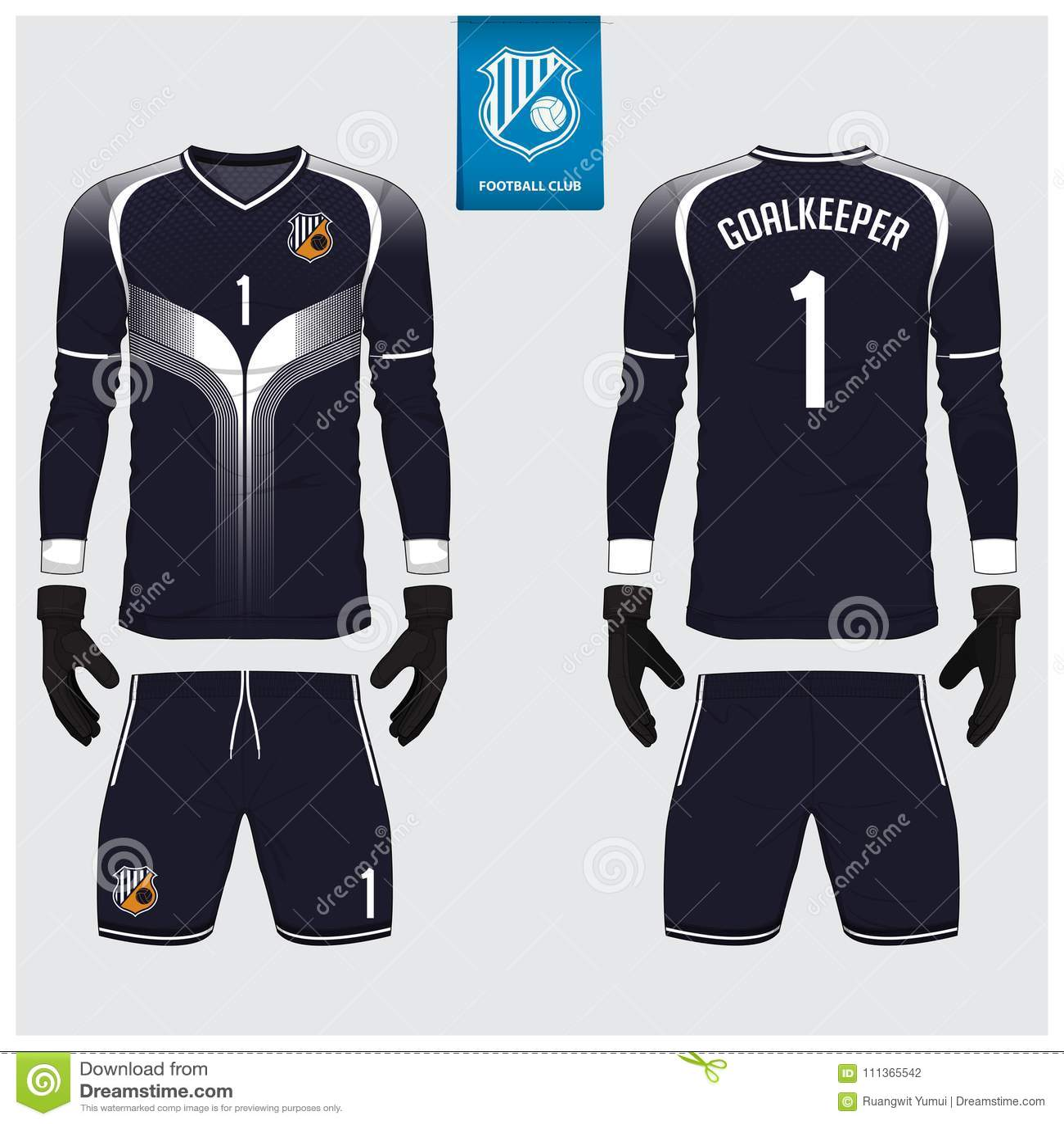 Goalkeeper Jersey Or Soccer Kit Long Sleeve Jersey Goalkeeper