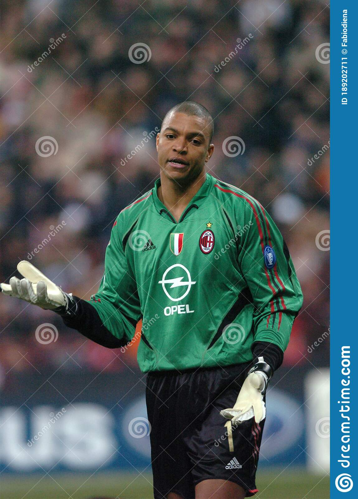 The Goalkeeper Of Milan Dida During The Match Editorial Photo Image Of Ball Playing 189202711