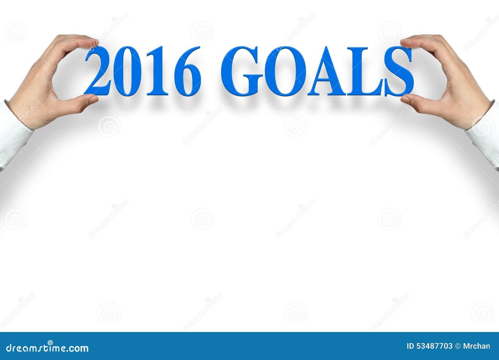 2016 Goals stock image. Image of improvement, 2016 ...
