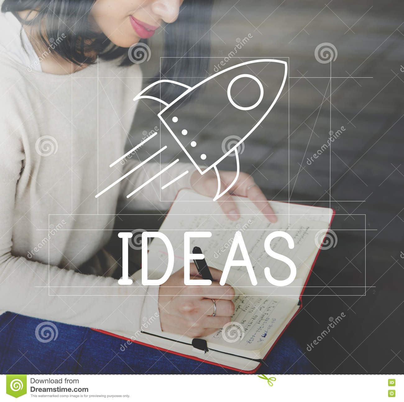 Goals Ideas Mission Spaceship Concept Stock Image Image Of