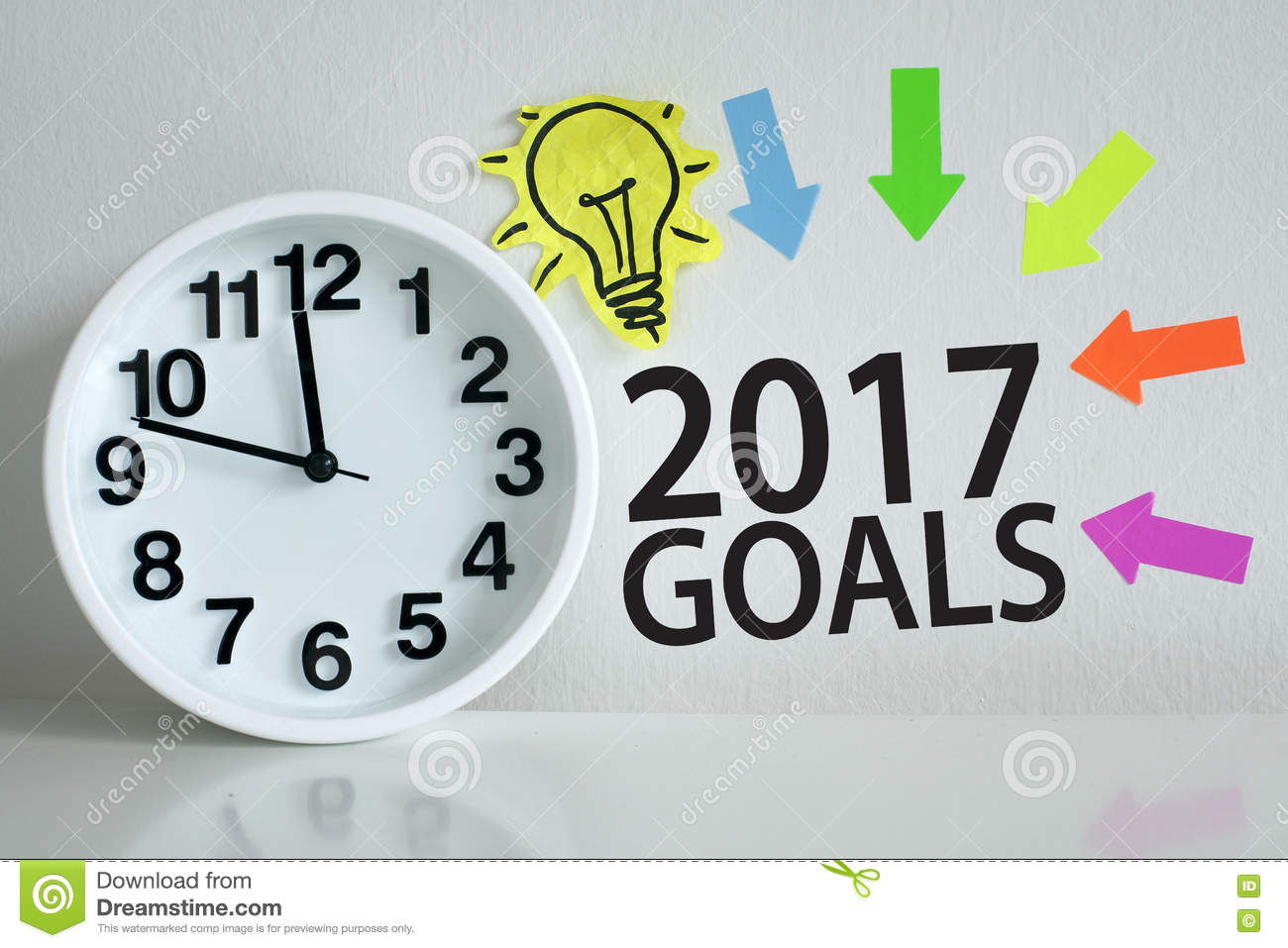 goals for new year stock photo image  goals for 2017 new year