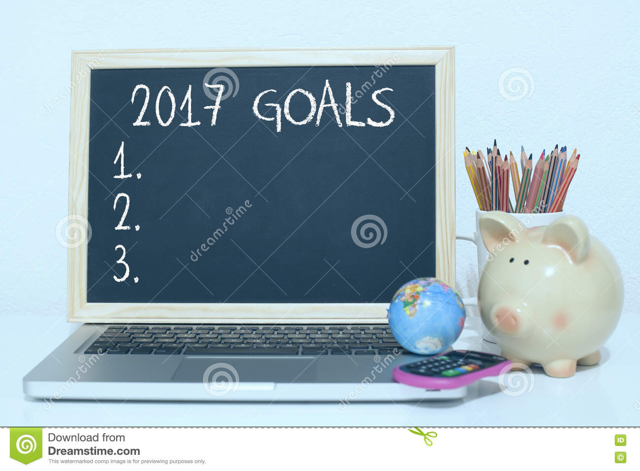 goals for new year list concept stock photo image  goals for new year 2017 list concept stock photo