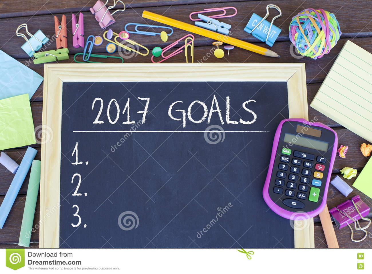 goals for new year list concept stock photo image  goals for new year 2017 list concept