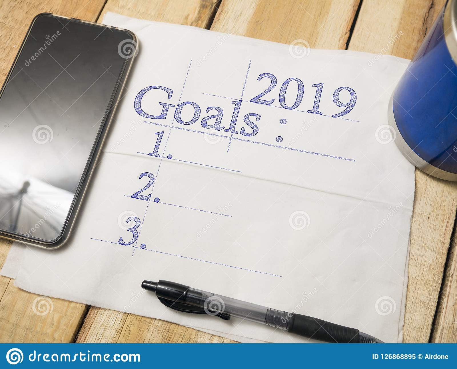 2019 Goals Resolutions Motivational Inspirational Quotes Stock
