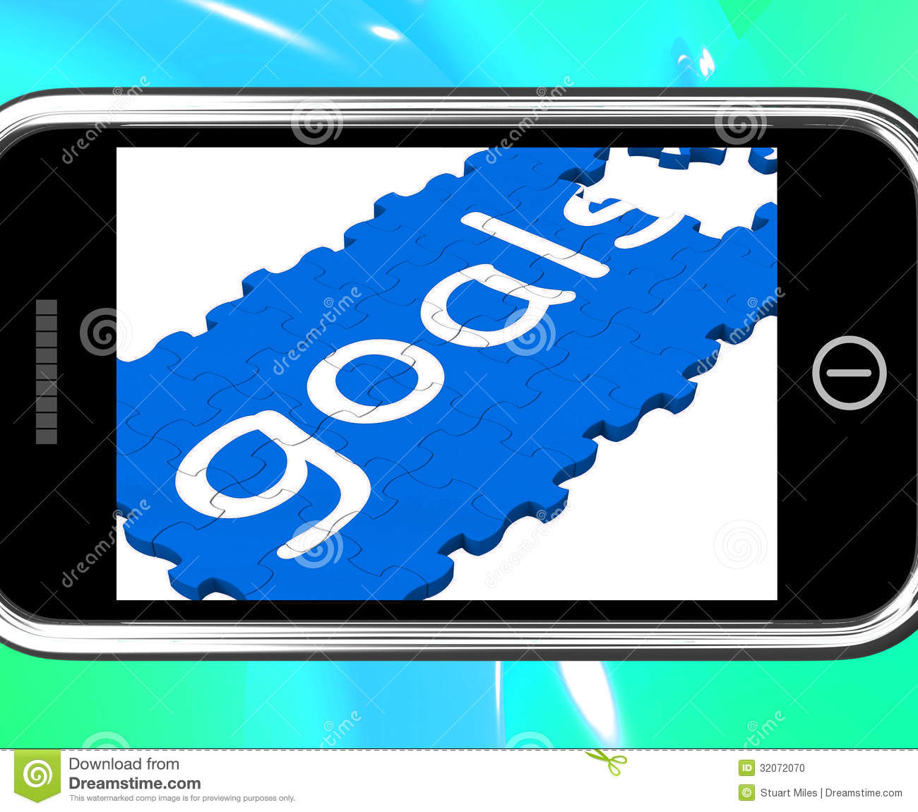goals on smartphone showing future aspirations stock photo image goals on smartphone showing future aspirations