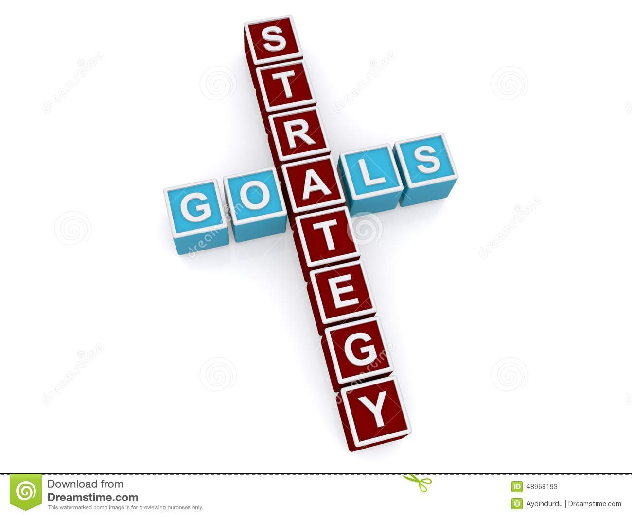 Goals And Strategy Sign Stock Illustration