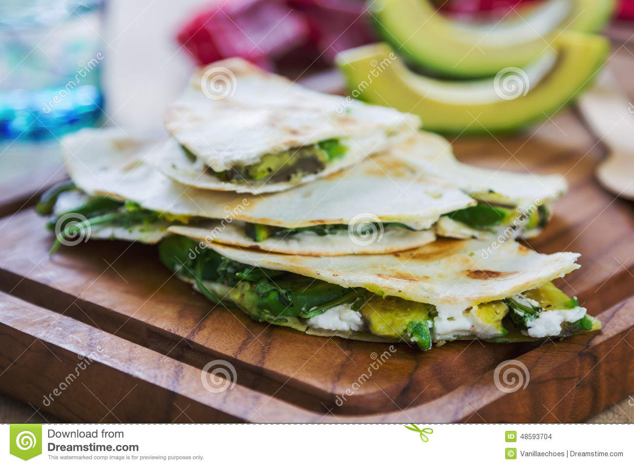 Goat Cheese And Avocado Quesadillas With Nectarine Salsa ...
