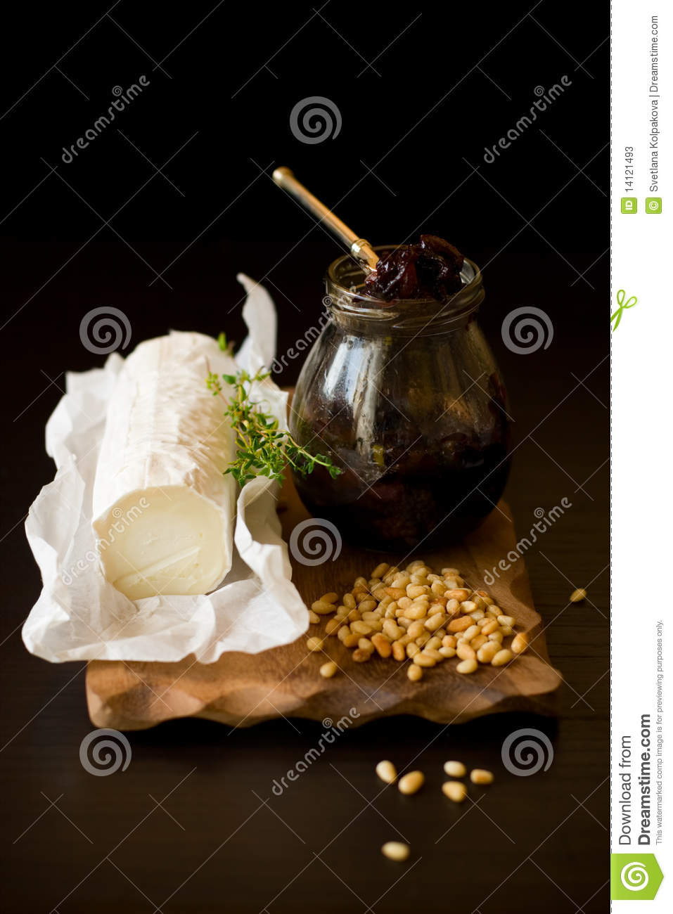 Goat Cheese,onion Jam,pine Nut And Thyme Stock Photos ...