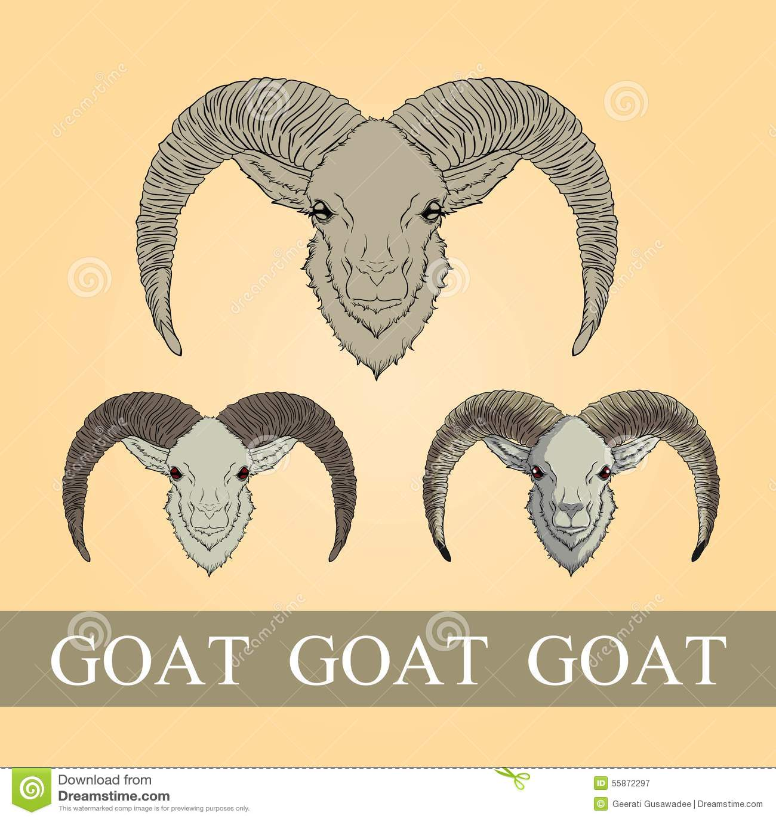 Goat Stock Vector - Image: 55872297