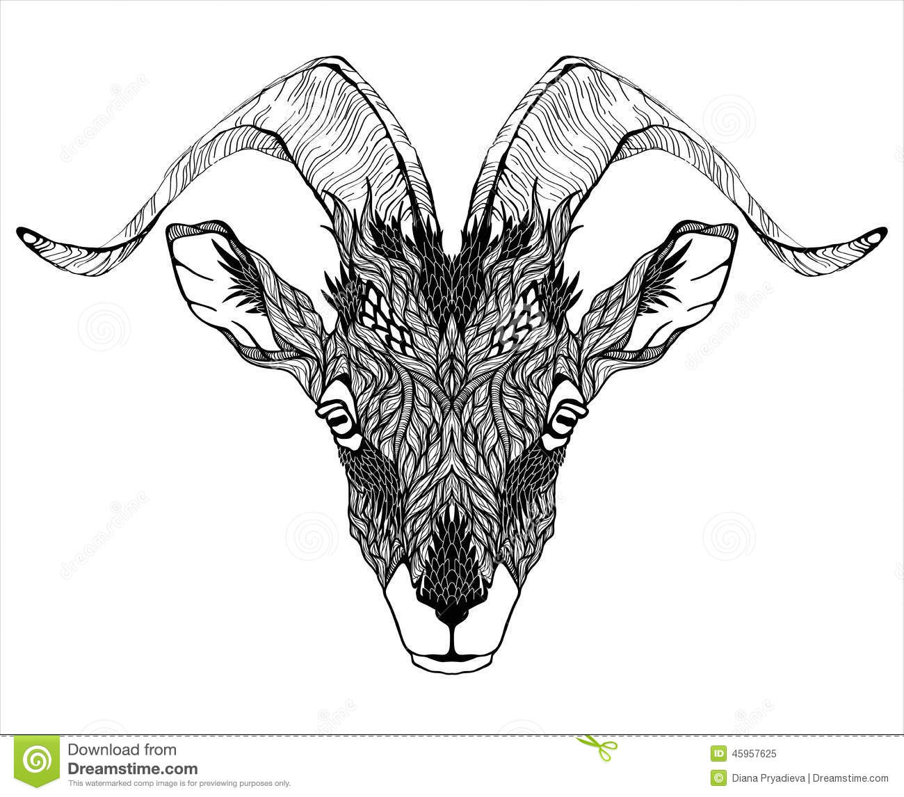 mountain goat head logo