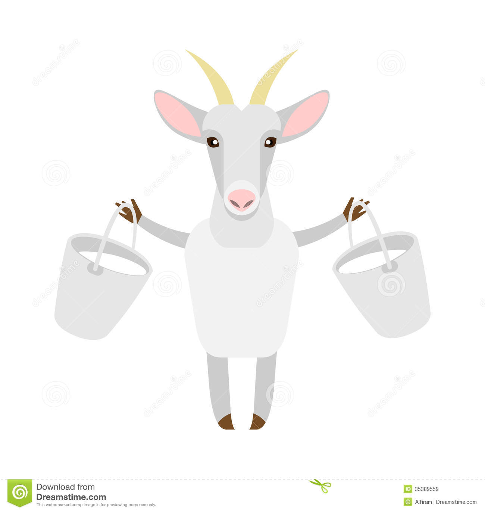 Goat with milk Goat Animation