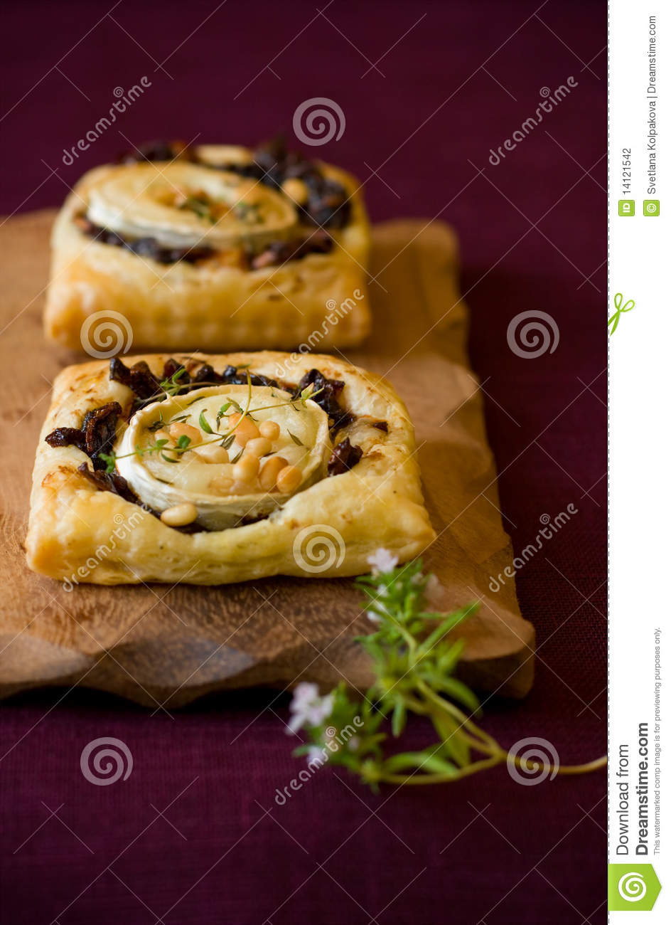 Goat's Cheese And Red Onion Tarts Stock Photography - Image: 14121542