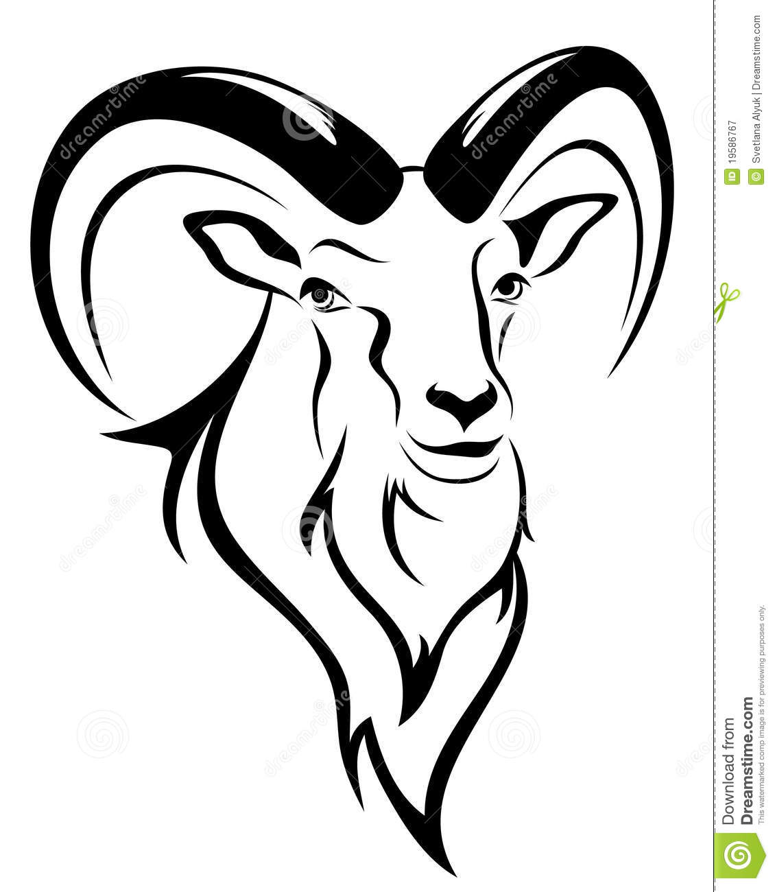 Goat Vector Royalty Free Stock Photography Image 19586767